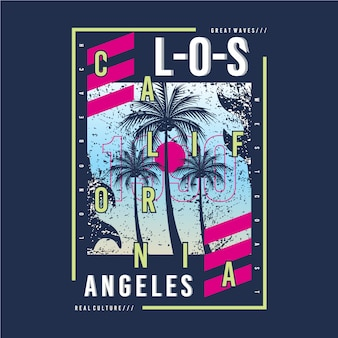 Los angeles grafika do druku tshirt