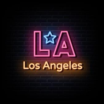 Los angeles logo neony