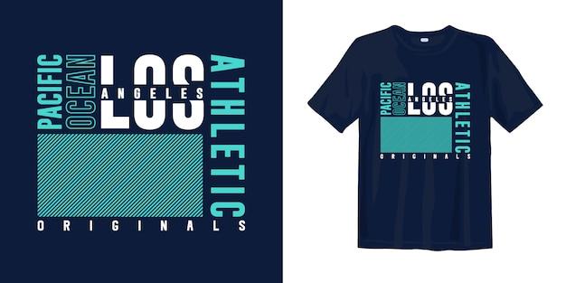 Los angeles, ocean spokojny. projekt koszulki moda typografia abstrakcyjna do druku