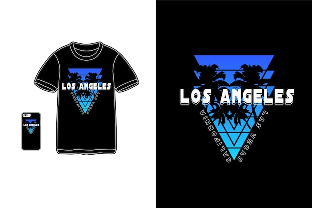Los angeles, t-shirt merchandise