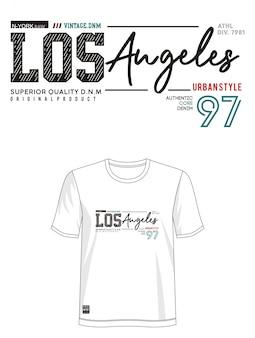 Los angeles typografia design koszulka