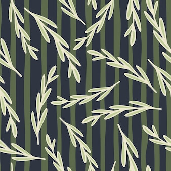 Losowe białe gałązki ziołowe kształtują wzór.