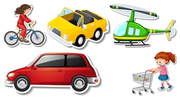 Losowe naklejki z przenośnymi przedmiotami pojazdu