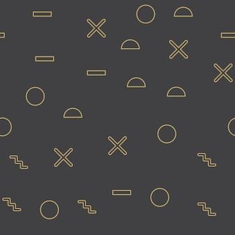 Losowy kształt geometryczny wzór, streszczenie tło w stylu retro lat 80-tych, 90-tych. kolorowa ilustracja geometryczna