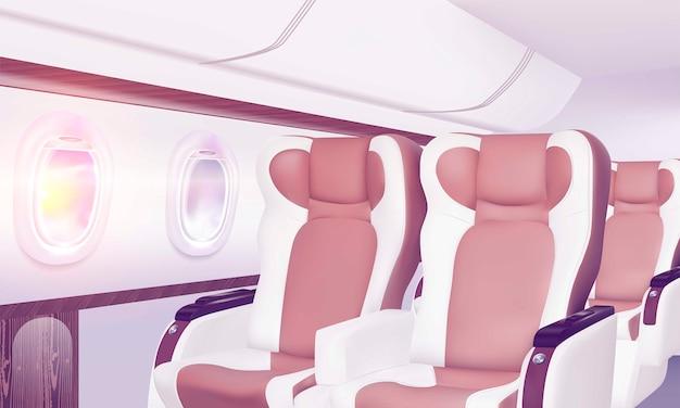 Lot w klasie biznes. koncepcja podróży.