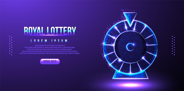 Loteria spinowa low poly