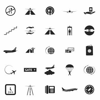 Lotnisko zestaw ikon