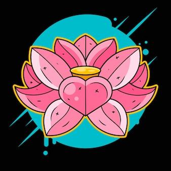 Lotos druk na t-shirtach, tkaninach, kubkach i pamiątkach. tęcza, kwas, lsd, dmt, medytacja, psychodeliczne, narkotyczne, natura kwiaty wzór lata 60. trippy dreamy lotos tattoo