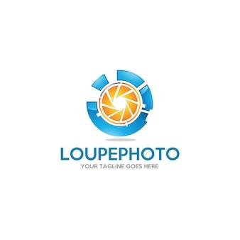 Loupephoto - szablon logo