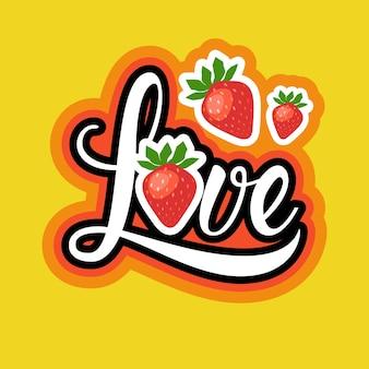 Love sticker social media network message badges