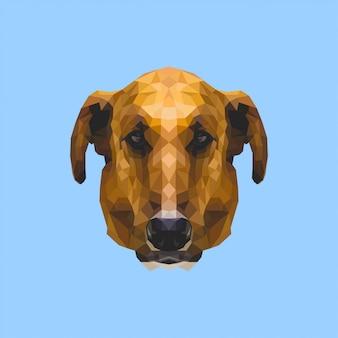 Low poly art dog