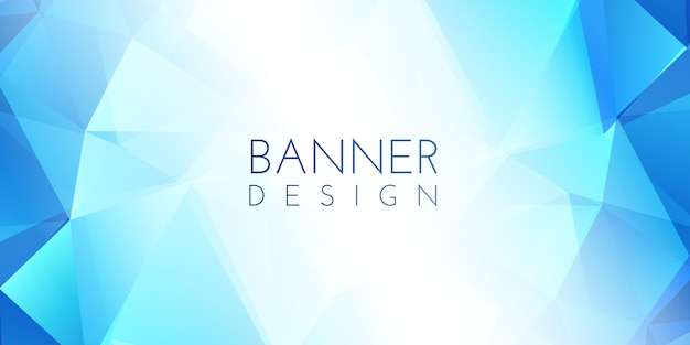 Low poly banner