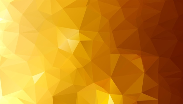 Low poly złoty trójkąt kształtuje tło