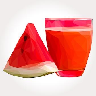 Lowpoly of watermelon juice