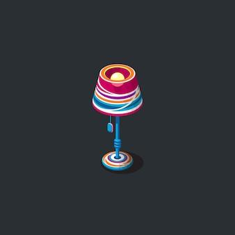 Łóżko lampka ilustracja clipart