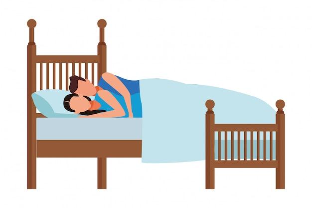 Łóżko z parą dla par