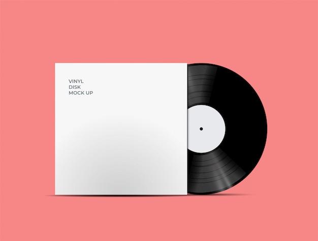 Lp record vinyl disc cover z płytą winylową w środku