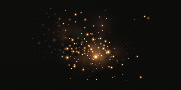 Lśniące gwiazdy przelatują przez noc