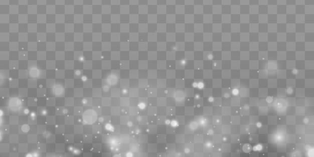Lśniące magiczne cząsteczki kurzu. efekt bokeh.