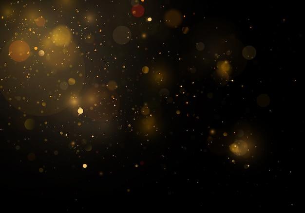 Lśniące magiczne cząsteczki kurzu. streszczenie tło z efektem bokeh.