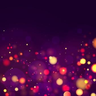 Lśniące magiczne cząsteczki kurzu. streszczenie tło z efektem bokeh