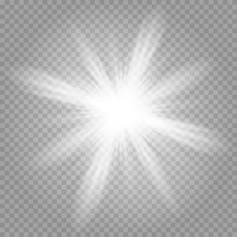 Lśniące magiczne cząsteczki pyłu. jasna gwiazda.