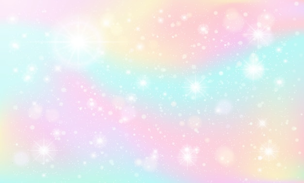 Lśniące marmurowe niebo, bajkowe niebo fantasy, pastelowe kolorowe iskierki i wspaniałe tło nieba marzeń