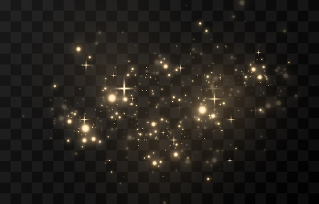 Lśniące światło, lśniące iskierki lśniący pył. lśniący magiczny pył.