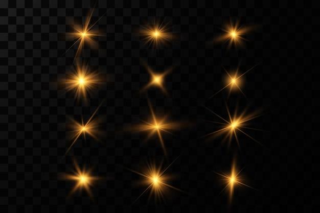 Lśniące złote gwiazdy