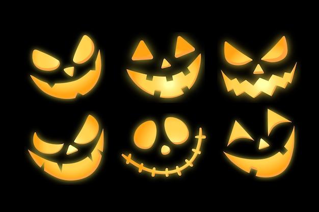 Lśnienie jasne jack o lantern pumpkin illustration