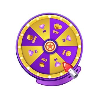 Lucky daily spin wheel dla interfejsu użytkownika gry. nagroda interfejsu przędzarki. premia