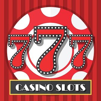 Lucky seven casino slot machine background