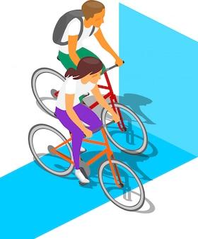 Ludzie aktywni na rowerze