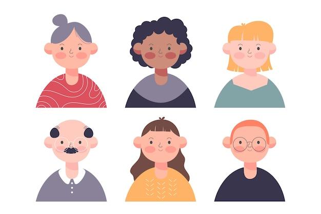 Ludzie awatary kolorowy design