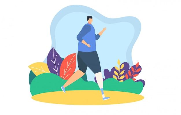 Ludzie biegaczy jogging ilustrację, kreskówka ojca, matki i córki, biorą udział w sportowym maratonie na bielu
