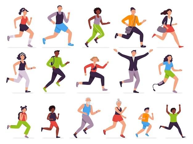 Ludzie biegają