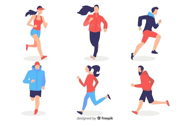 Ludzie biegający