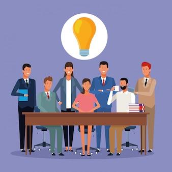 Ludzie biznesu coworking
