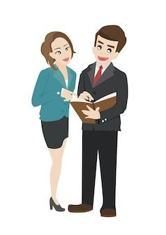 Ludzie biznesu czyta dokument wpólnie