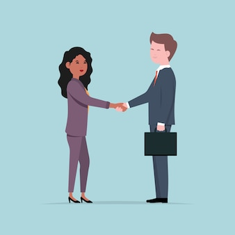 Ludzie biznesu drżenie rąk