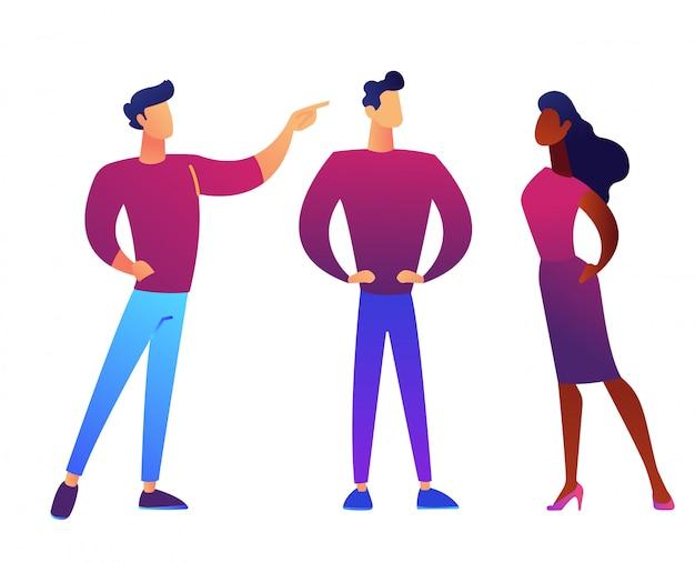 Ludzie biznesu dyskutuje wektorową ilustrację.