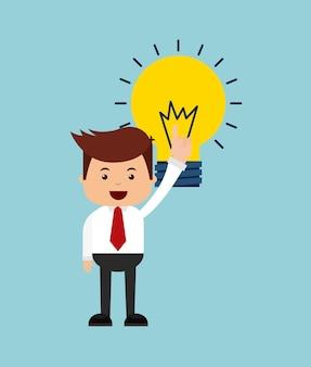 Ludzie biznesu finanse ikona designu