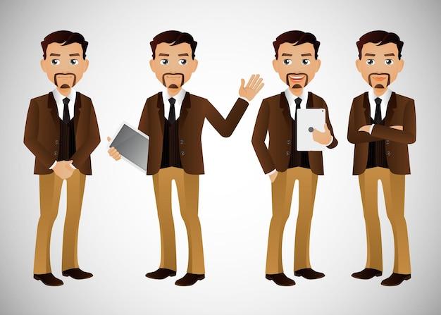 Ludzie biznesu grupują postacie awatarów