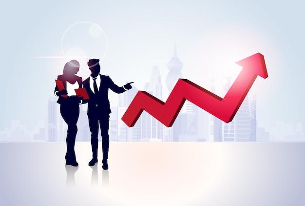 Ludzie biznesu grupy finansów wykres sukces finansowy koncepcja