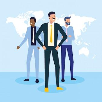 Ludzie biznesu i koncepcja pracy