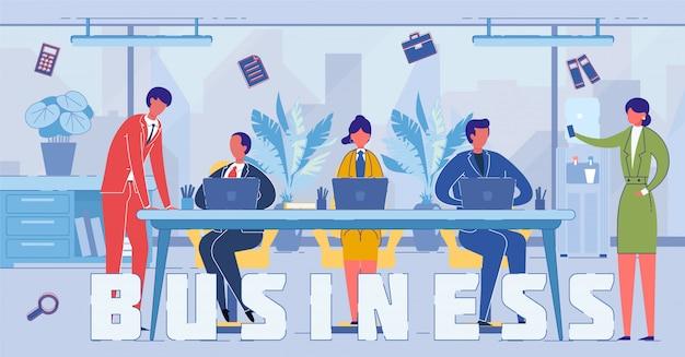 Ludzie biznesu i przedsiębiorczości pracujący z laptopami
