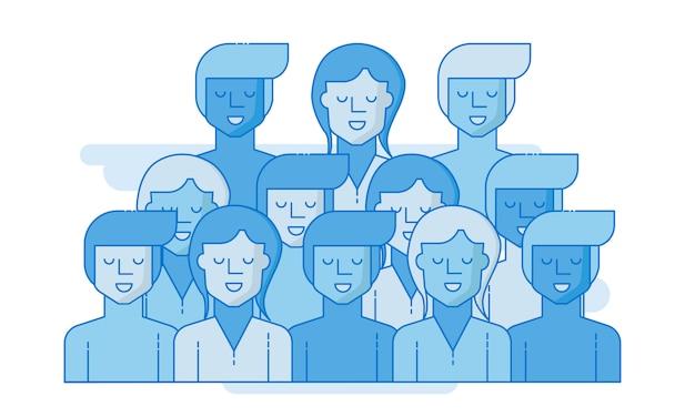 Ludzie biznesu, koncepcja pracy zespołowej