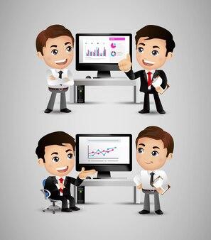 Ludzie biznesu omawiają strategię przy biurku