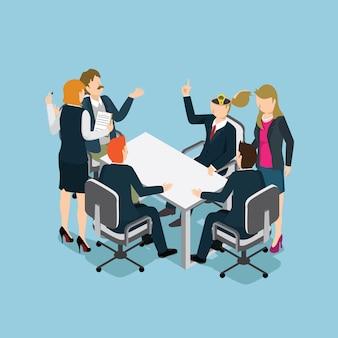 Ludzie biznesu spotykają się z inteligentnym biznesem