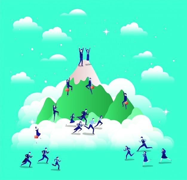 Ludzie biznesu w górach